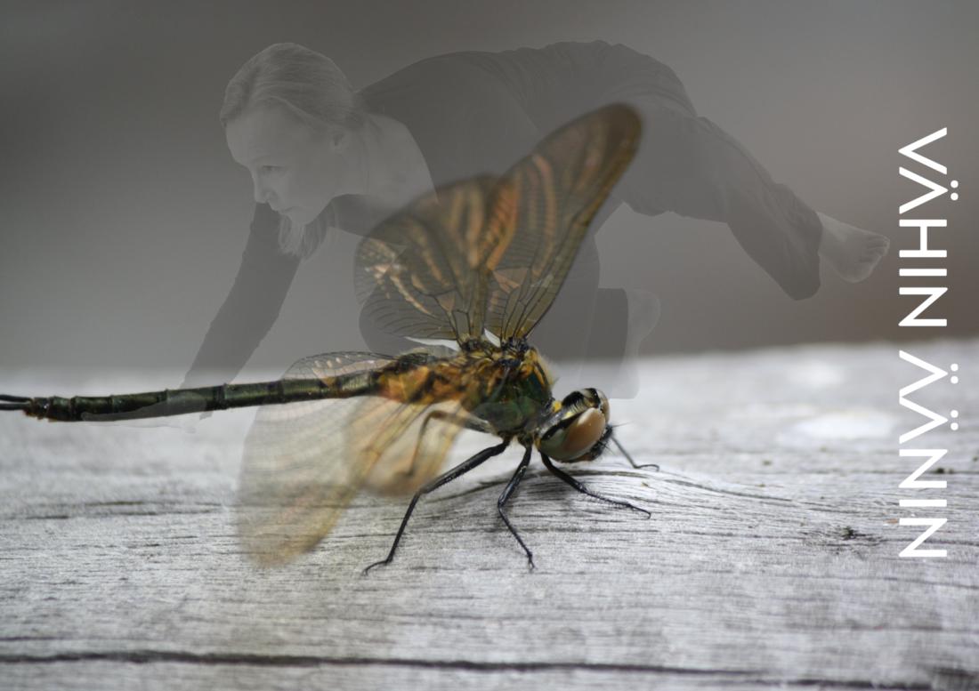 Kuvassa tanssija ja sudenkoreonto.